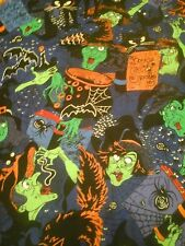 Halloween Witch  and Potions Fabric 1 Yard Cotton