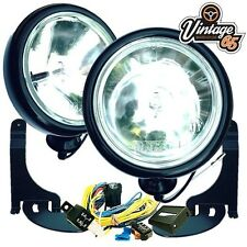 BMW Mini R50 R52 R53 Mk1 Black Driving Spot Lights Lamps Brackets & Wiring Kit