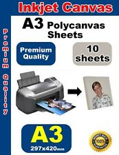 A3 Printing Inkjet Canvas White Giclee 10 Sheets (not paper) 270gsm ink jet