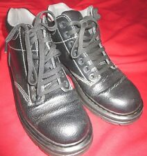 DR MARTINS Doc Martins Black Leather Lace Up TACOMA Boots Sz 8 AIR CUSHION SOLE*