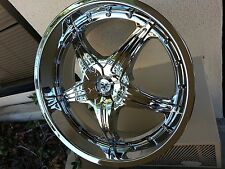 "20"" Sovrano S5 Chrome wheels Rims Fit 5X4.5 Altima Camry G35 Optima Mustang"