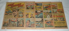 1943 eight and 1/2 page cartoon story ~ GENERAL BREHON SOMERVELL w/Roy Rogers ad