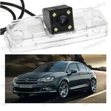 1Pcs CCD Car Reverse Parking Camera 4LED lights for Citroen C5 2010-2012