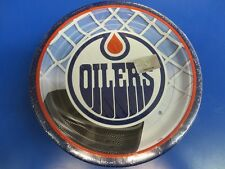 """Edmonton Oilers NHL Pro Hockey Sports Banquet Party 9"""" Paper Dinner Plates"""