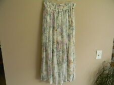 PIER 1 IMPORT PASSPORTS:FLORAL SKIRT VINTAGE NWT Beautiful Flowing Fabric Comfy