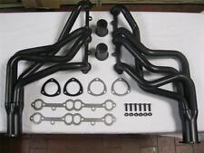 Small Block Chevy SBC V8 305 350 400 Long Tube Headers Black Coated Camaro Nova