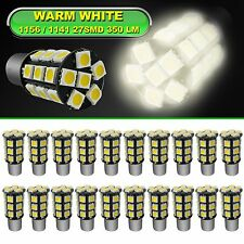 20 x Ba15s 1156 1141 High Bright RV Car LED Bulb 27-5050SMD DC 12V Warm White