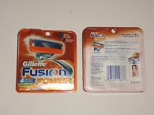 New Gillette Fusion Power Men's Razor Blade Refills 4 Count 5 Blade Shaving