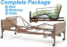 Invacare Full Electric Hospital Bed Package, w/FULL Rails & Innerspring Mattress