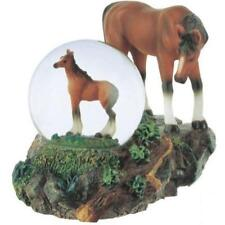 George S. Chen Imports Snow Globe Horse with Foal Collection Figurine New