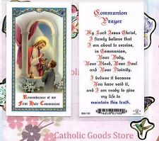 Boy First Holy Communion - Laminated Holy Card