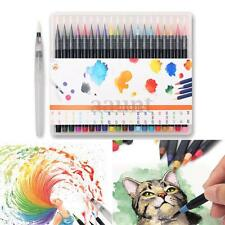 20 Colors Watercolor Painting Pen Soft Brush Artist Sketch Manga Markers Set