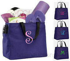 Bridesmaid Gift Bags Personalized Tote Bag Monogram Bridal Wedding Party Purple