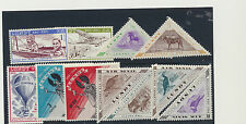 Lundy Islands Mint Lot of 11 Diff Mint NH Including Triangles Stamps