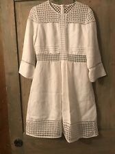Sandro White Lace Detail Dress With Sleeve Detail Size 12
