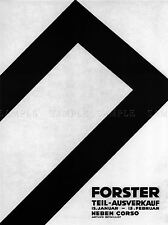 COMMERCIAL ADVERT FORSTER SALE SWITZERLAND POSTER ART PRINT HOME PICTURE BB1798A