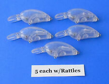 Unpainted fishing lure body,LC Little John. 5 pack