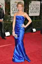 ELECTRIC BLUE OSCAR DE LA RENTA LONG GOWN SIZE 0!!