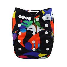 Alva Baby  Foxes Print Washable Reusable Cloth Diaper Nappy+1Insert  6-33lbs