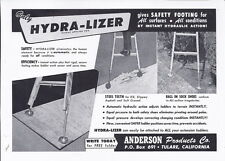 Tulare, Ca- Anderson Products Co ad for Hydra-lizer ladder - Cliff Davis Fresno