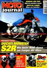 MOTO JOURNAL 1641 DUCATI 800 Monster S2R TRIUMPH Bonneville T100 YAMAHA BT 1100