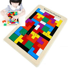 Tetris Montessori Children's Kids Educational Baby Toddler Wooden Puzzle Toy