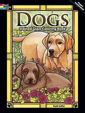 Dover Nature Stained Glass Coloring Book Dogs Puppys Ruth Soffer