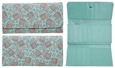 "Pusheen The Cat Mint ""MERMAID"" Snap Flap Wallet Clutch Billfold Zipper Pouch NWT"