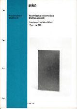 Service Manual-Anleitung für Braun LV 720