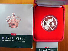 """2000 50 cent Silver Proof Coin : """"Royal Visit."""""""