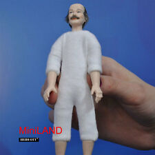 "XKM06 Heidi Ott Dollhouse Doll Nude old Man +grey Hair, brown Eyes, 5.5"" grandpa"