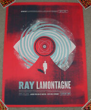RAY LAMONTAGNE concert gig tour poster 6-11-14 CLEVELAND 2014 charlie wagers