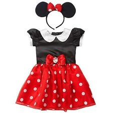 NEW Disney baby 2 Pc Red/Black Minnie Mouse Dress Up Costume w/Ears Sz: 6-9 mos