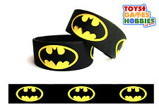 BLACK Batman Embossed Wrist Band Superhero Birthday Party Favor Kids DC Comic