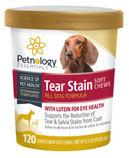 Petnology Dog Puppy Eye Tear Stain Support Soft Chews plus Lutein 120ct