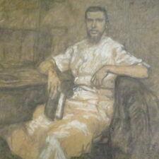 Ancien tableau pastel signé ? et daté 1909