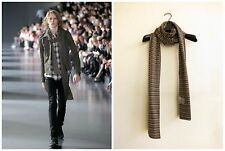 SS05 DIOR HOMME BROWN STRIP SCARF