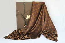 Louis Vuitton Leopard silk Monogram scarf