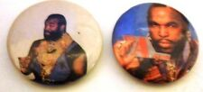 MR T -   B. A .BARACUS  A -TEAM SET OF 2 BUTTON PINS/ BADGES