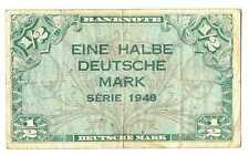 Germany Federal Republic U.S. Army Command 1/2 Deutsche Mark 1948 VF #230