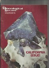The Mineralogical Record Vol 8, number 6 november december 1977 California issue