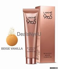 Lakme 9 to 5 Weightless Mousse Foundation- Beige 29gm