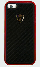 Lamborghini Carbon Fiber Back Case for iPhone 6 Black/Red