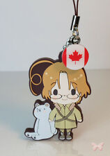 Hetalia Axis Powers Rubber Phone Strap Collection Canada w Flag Charm Kotobukiya