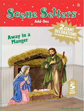 NATIVITY Scene Setter Christmas holiday party wall decor kit 5' Manger holy