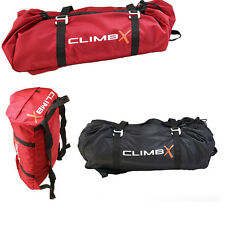 NEW Rock Climbing Rope Bag Red Black ClimbX Gear Backpack Pouch Camping Caving