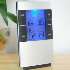 Digital LED Desk Alarm Clock Thermometer Hygrometer Timer Calendar Temp Home Big