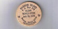 Hawaii Wooden Nickel Token - Wailuku - Aloha World Coins 1976