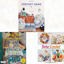 Crochet and Vintage Style Collection 3 Books Set Boho Crochet,Crochet Home NEW