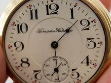 Antique Hampden No. 105 Railroad RR 21 Jewel Pocket Watch 5 Positions Circa 1912